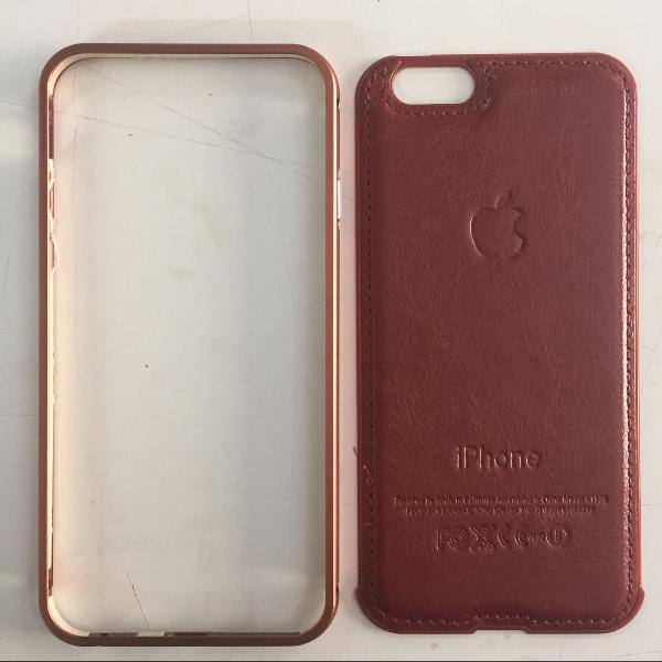 Case para iphone, em couro