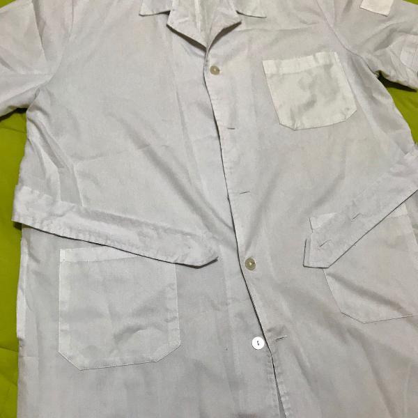 Jaleco branco manga curta