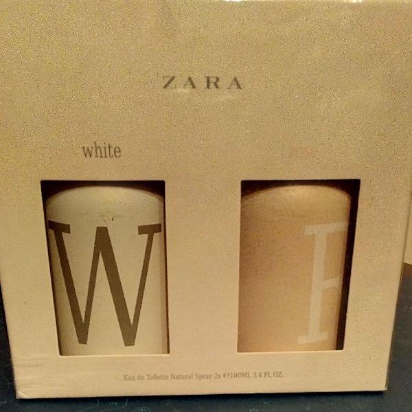 Kit dois eau de toilette zara white e rose