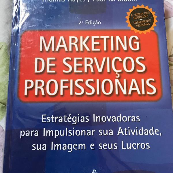 Livro marketing de serviços profissionais