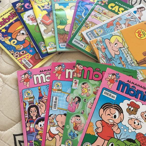 Lote de quadrinhos turma da mônica
