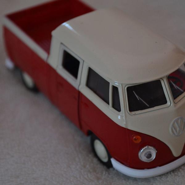 Miniatura volkswagen kombi t1 double cabin pick up - escala