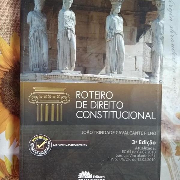 Roteiro de direito constitucional 3ª edição
