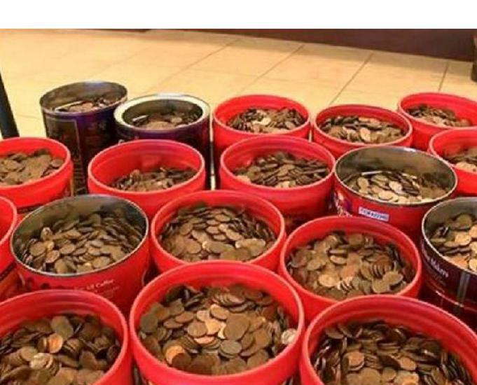 Compro 100 quilos de moedas antigas pago até r$3.000,00