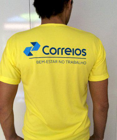 Camiseta em malha PV Já estampada com o Nome da Sua Empresa