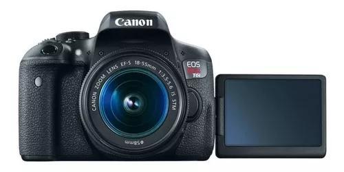 Câmera canon eos t6i lente 18-55mm