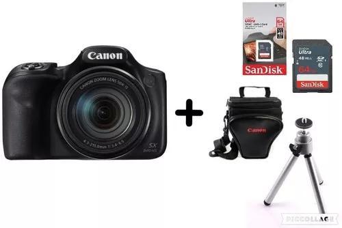 Câmera canon powershot sx540 + bolsa + 64gb + tripé