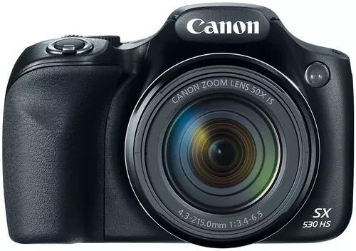 Câmera canon sx530 hs zoom 50x wi-fi + bolsa + 32gb