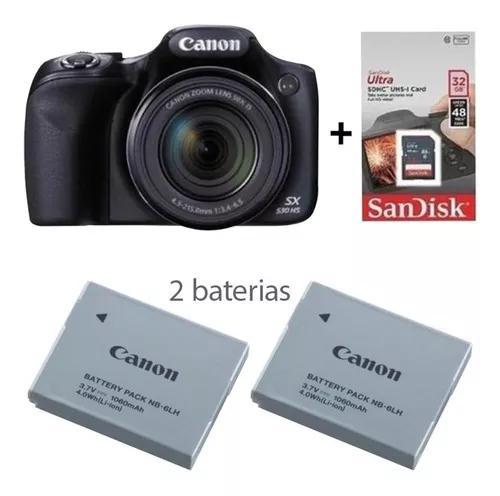 Câmera canon sx530hs powershot sx530 hs +sd32gb+bateria
