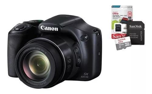 Câmera digital canon powershot sx530 hs + 32gb +bolsa+ nf-e