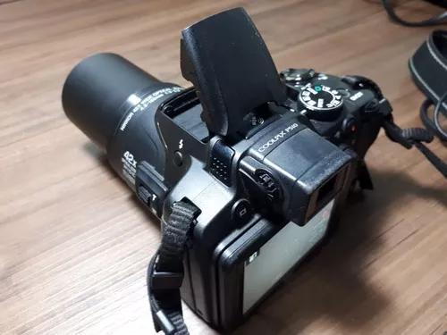 Câmera nikon coolpix p510 com bateria, cartão e carregador