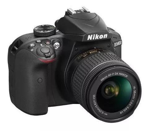 Câmera profissional nikon dslr d3400 com lente af-p 18-55