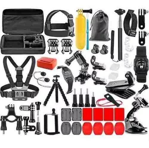 Kit acessórios gopro 7 black completo go pro hero 6 5 4 3