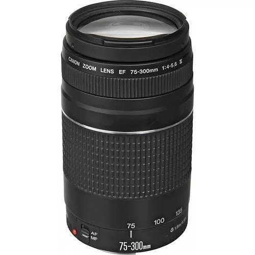 Lente canon 75-300mm f/4-5.6 iii3 ef autofoco garantia 1 ano