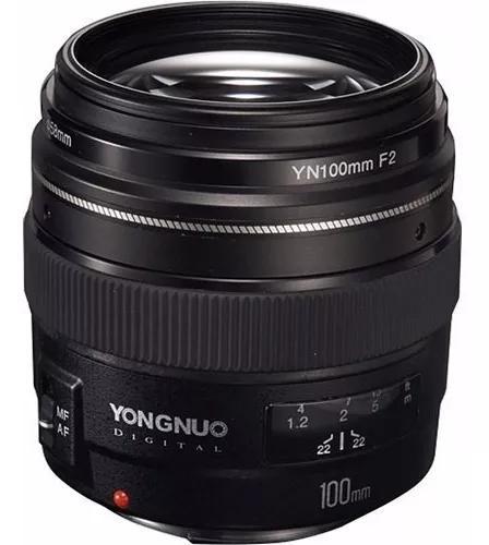 Lente yongnuo 100mm f/2 - canon garantia novo