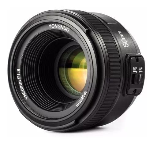 Lente yongnuo yn 50mm c/ motor de auto foco p/ câmeras