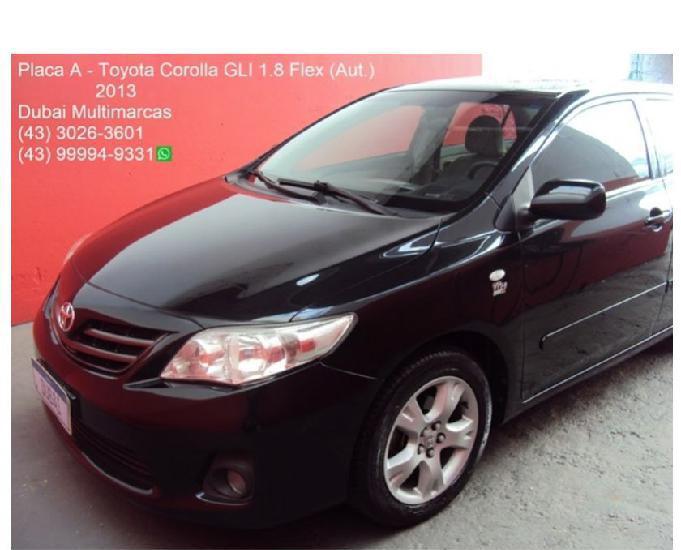 Toyota Corolla GLi 1.8 Flex (Aut.)(Couro) - Placa A - 2013