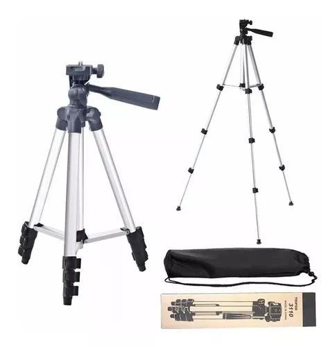 Tripé universal telescópico p/ câmera/celular/projetor