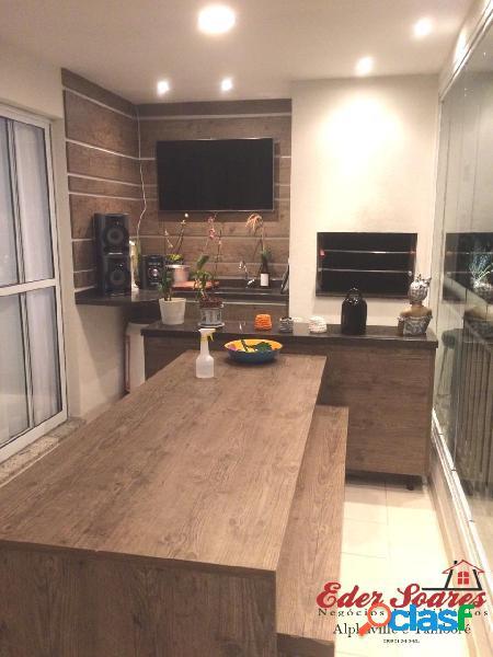 Grande oportunidade: apto de 132m² com varanda gourmet á venda
