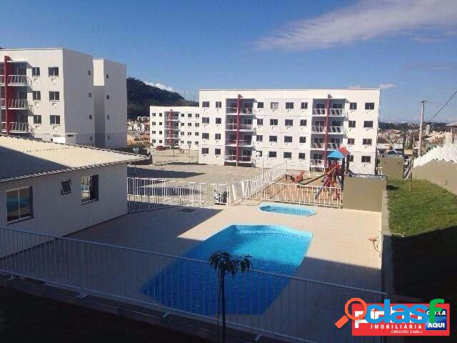 Apartamento 02 dormitórios, residencial flores da colina, venda direta caixa, bairro são sebastião, palhoça, sc, assessoria gratuita na pinho