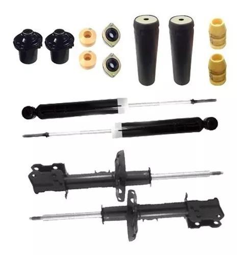 4 amortecedor celta+4 kit batente dianteiro traseiro