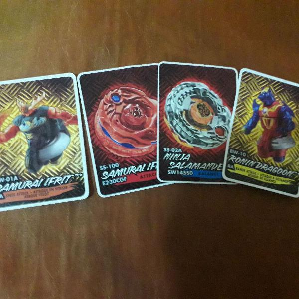 4 cards beyblade shogun steel