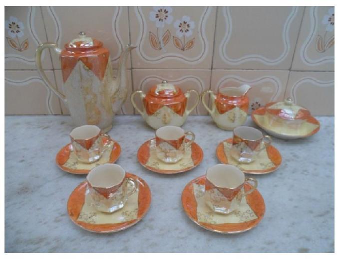 Conjunto De Café De Porcelana Japonesa Casca De Ovo