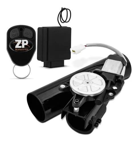 Difusor escape eletrônico 2,5 polegadas esportivo preto