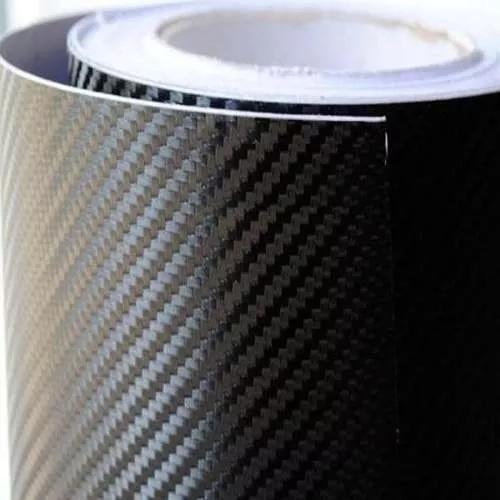 Envelopamento fibra carbono preto imprimax com 1m x 0,40m
