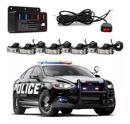 Kit strobo grade automotivo 12v pm pf policia viatura civil