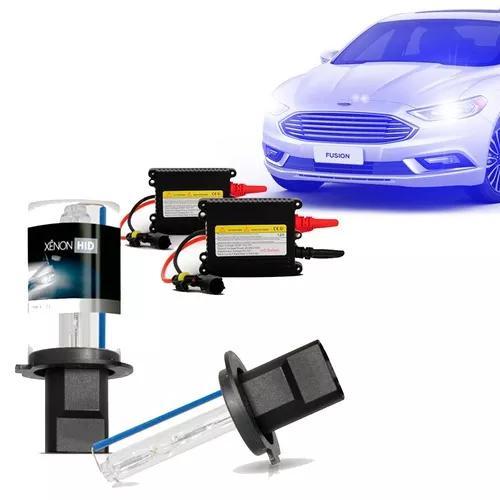 Kit xênon h1 h3 h7 h8 h11 h16 hb4 12000k azul automotivo