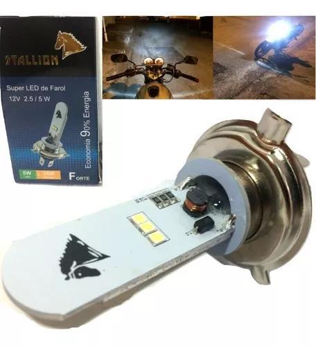 Lampada led h4 moto efeito xenon 8000k 125/150cc 6d