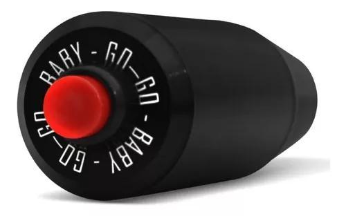 Manopla de câmbio esportiva shutt shifter preta com botão