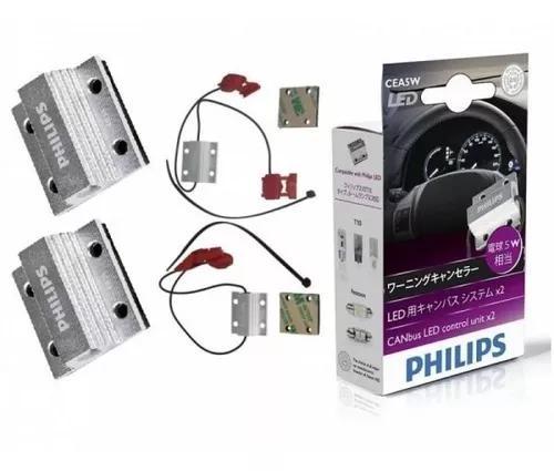 Par canbus canceller philips lâmpada led t10 5w original