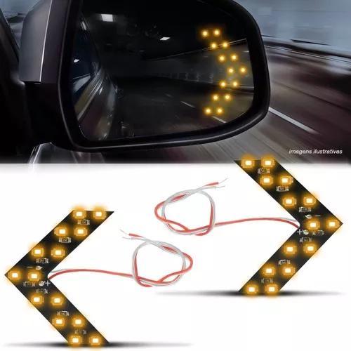 Par lâmpada 14 leds 1 polo espelho retrovisor pisca seta