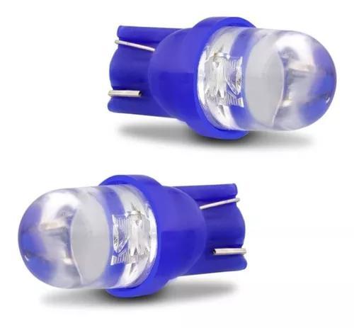 Par lâmpada led esmag pingo t10 12v azul farol meia luz