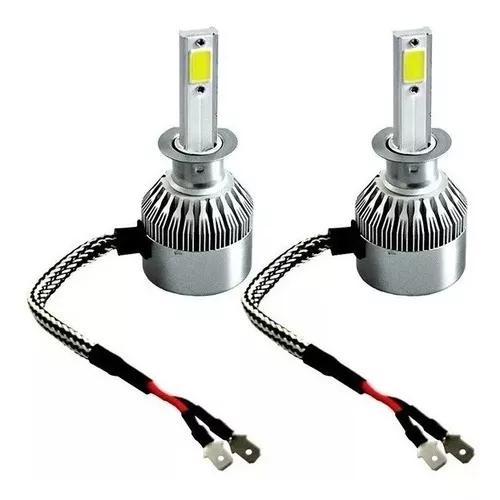 Par lâmpadas h1 super led c6 branco 8000k