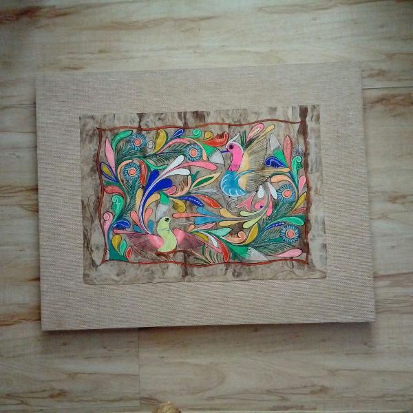 Tela divertida e colorida no papiro...