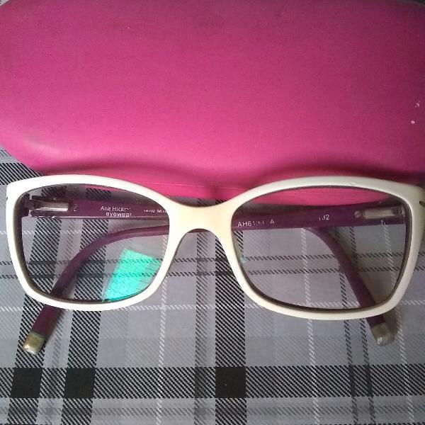 Armação de óculos branca ana hickmann