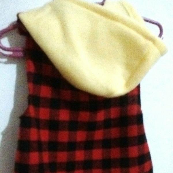 Blusa pet xadrez flanelado com capuz
