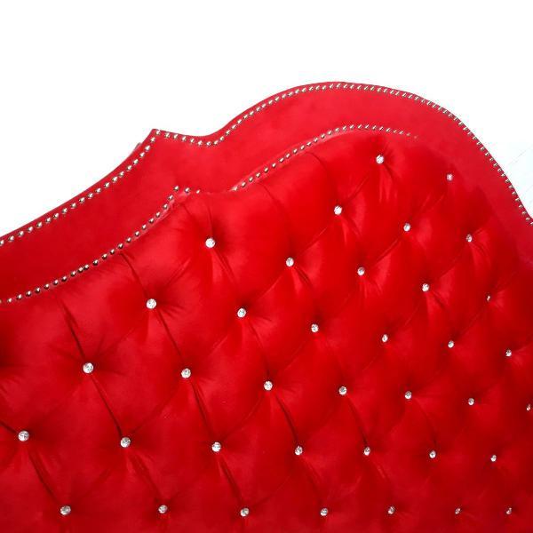 Cabeceiras com botões de strass para cama box queem 160cm