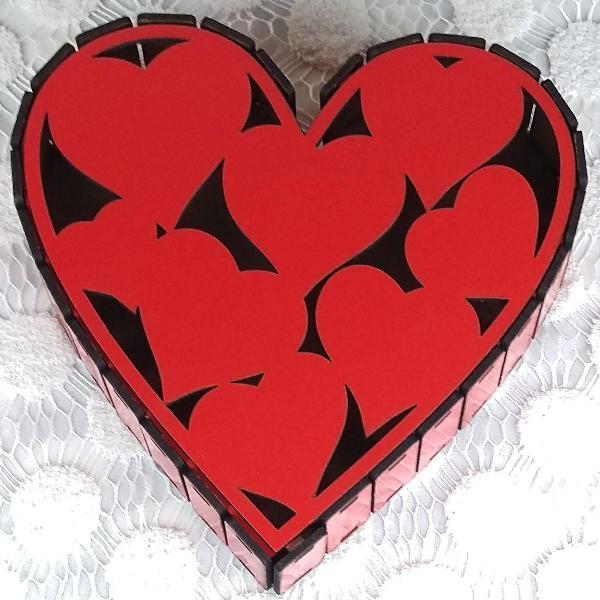 Caixa romântica de coração