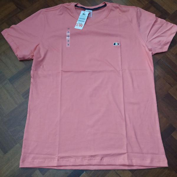 Camiseta lacoste básica manga curta