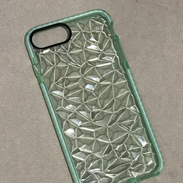 Case silicone efeito diamante iphone 6/6s/7/8 plus