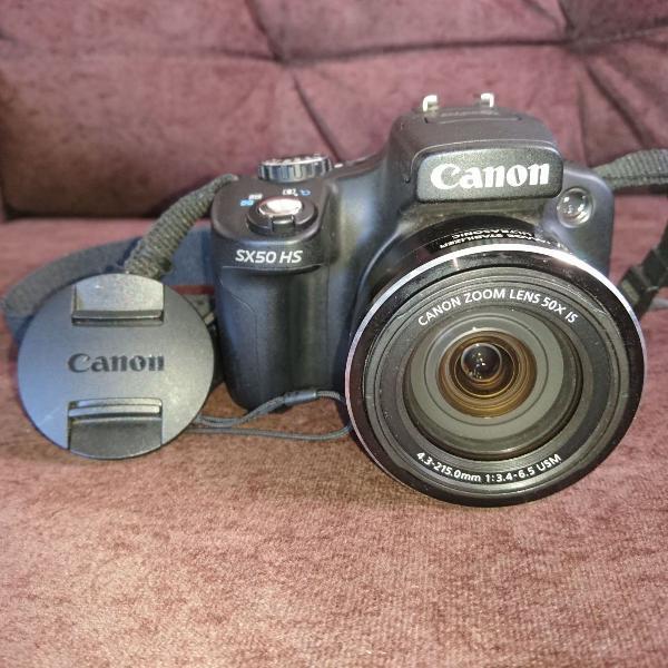 Câmera canon powershot sx50 hs + acessórios