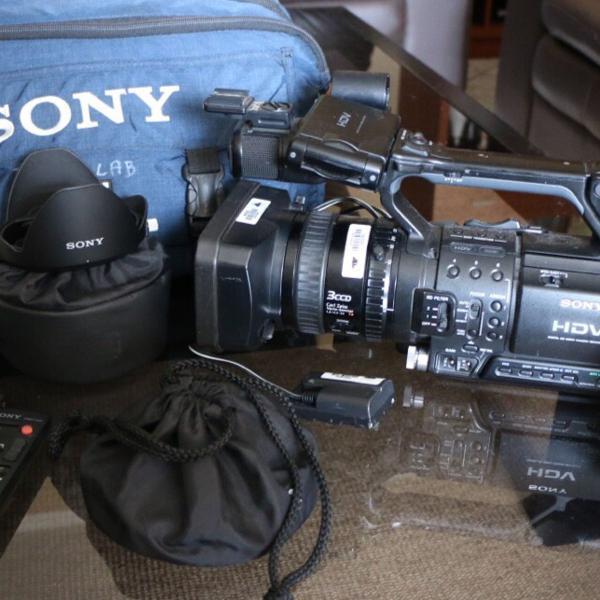 Câmera filmadora sony hdv z1