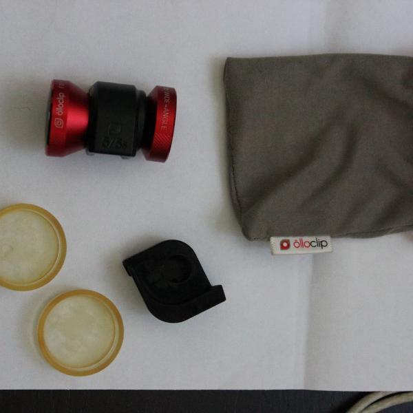 Lente fisheye para iphone 5/5s, olloclip, vermelha