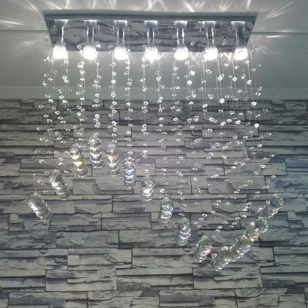 Lindíssimo lustre de cristal legítimo k9 80cm