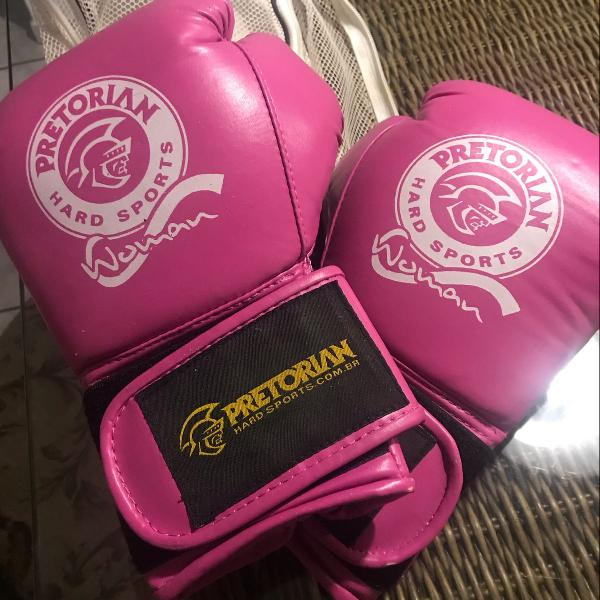 Luva boxe/muay thai rosa pretorian