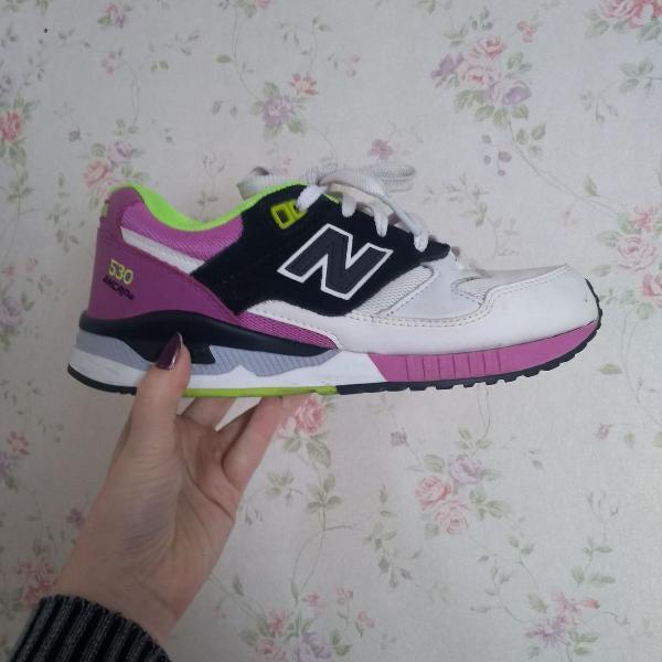 New balance rosa e branco